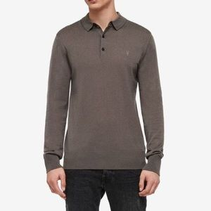 ALLSAINTS Gray Mode Merino Long Sleeve